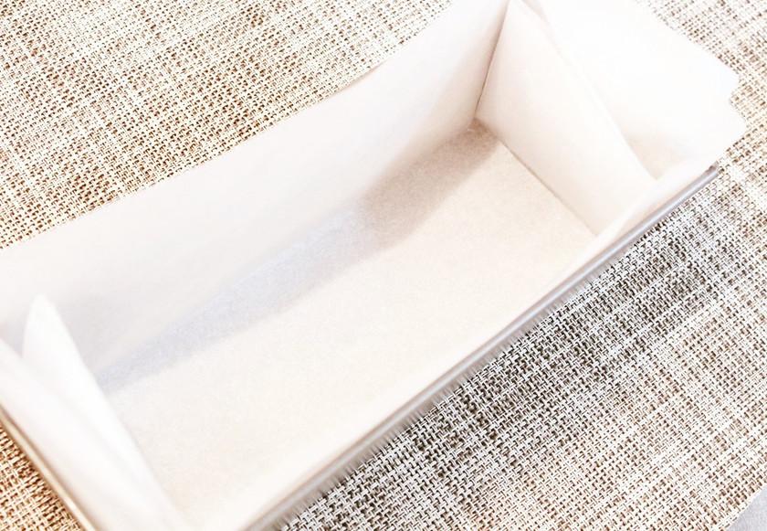簡単✿パウンド型クッキングシートの敷き方