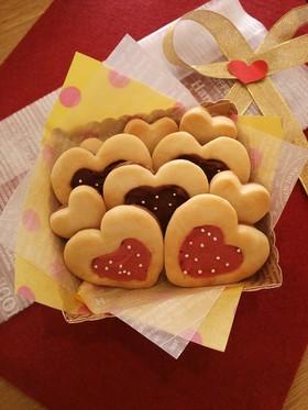 バレンタインに☆簡単ハートチョコクッキー