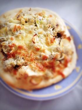 しらすとゆりねの和風ピザ
