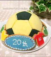 ☆♪サッカーボール型ドームケーキ♪☆の写真