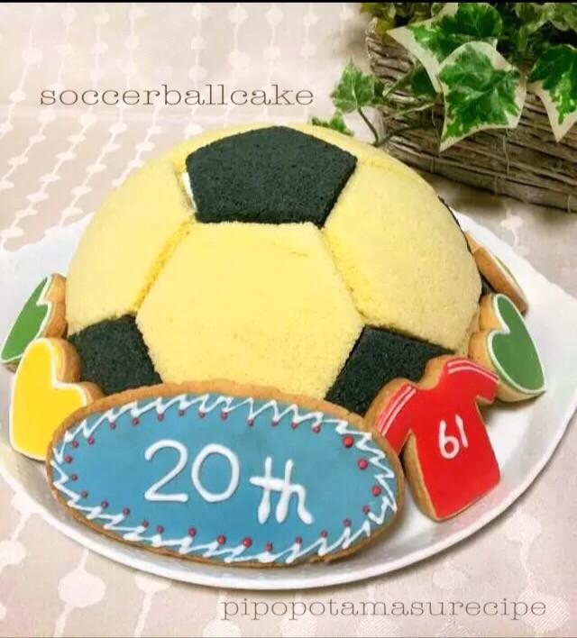 ☆♪サッカーボール型ドームケーキ♪☆