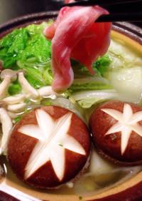 札幌1番塩ラーメンで豚シャブ鍋