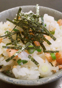 焼き不要! 塩鮭の切り身de炊かず飯