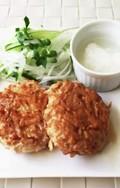 簡単!鶏ひき肉ともやしの照焼きハンバーグ