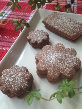 しっとり♪生チョコクッキーサンド