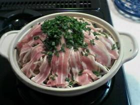 ☼◎超簡単♪豚バラともやし沢山の土鍋蒸し
