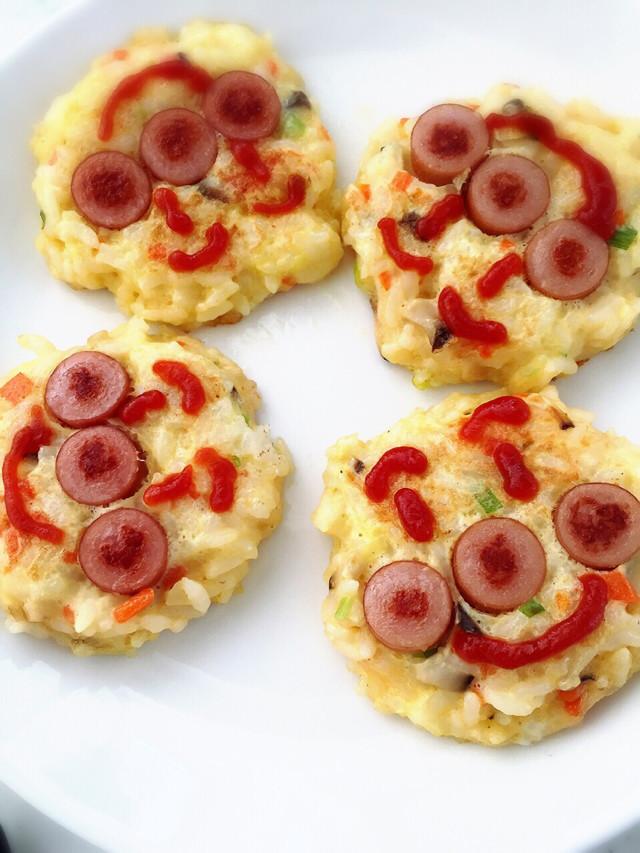 簡単☆アンパンマン ごはんピザ