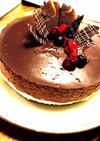アップルチョコムースケーキ。バレンタイン