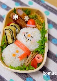 幼稚園 お弁当♡雪だるま 簡単