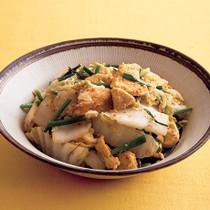 白菜と豆腐のごまみそチャンプルー
