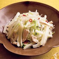 大根と白菜のにんにく塩炒め