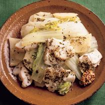 白菜とたらのハーブ蒸し