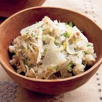 大根と白菜の豆乳炊き込みご飯