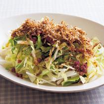 カリカリじゃこのせ白菜サラダ