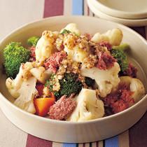 コンビーフとカリフラワーの温サラダ