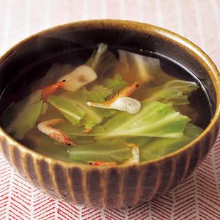 キャベツと桜えびのピリ辛スープ