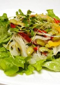ひたし豆とミックス野菜の彩りサラダ