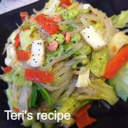 ダイエット白滝麺★海鮮中華あん塩焼そば風の写真