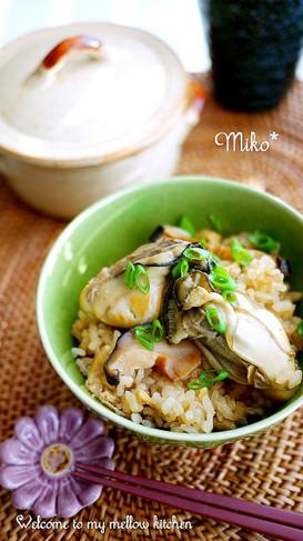 簡単・牡蠣の炊き込みご飯*生姜風味♪