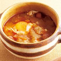 にんにくと落とし卵のスープ