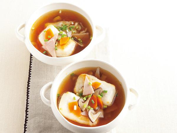 焼きもちの中国風スープかけ