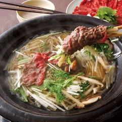 牛肉と野菜のしゃぶしゃぶ