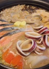魚介が美味しい石狩鍋 まろやか酒粕仕立て