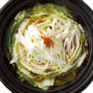 輪切り白菜と鮭の鍋