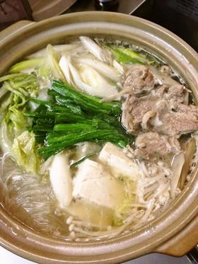 簡単で本格的な味☆鴨鍋