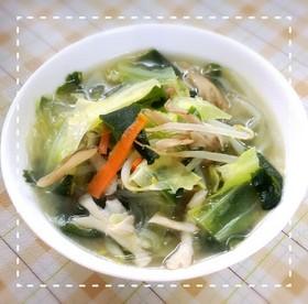 簡単うまうま(*´ω`*)春雨野菜スープ