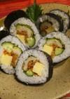 太巻き寿司☆竹輪天・金平牛蒡・チーズ♪