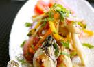焼き牡蠣&焼きキノコの和風マリネ