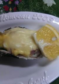 殻つき牡蠣のタルタルソース焼き◆