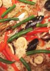 冷凍ガーリックムール貝で簡単パエリヤ