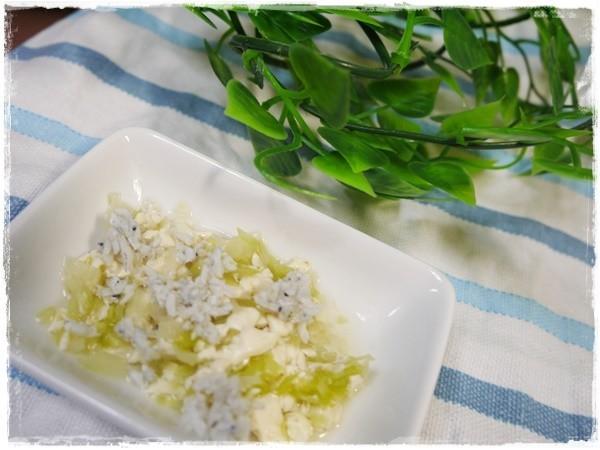 離乳食中期 しらす豆腐とキャベツの煮物