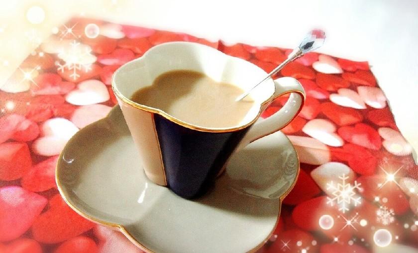 カフェ気分♪黒糖豆乳カフェオレ**