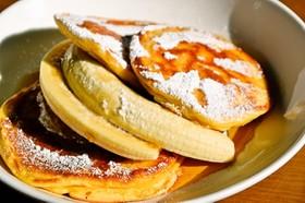 世界一の朝ごはん。ふんわりパンケーキ。