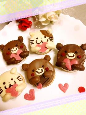 バレンタインに♡マシュマロチョコサンド