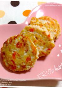 離乳食♡麩わ麩わお豆腐ハンバーグ