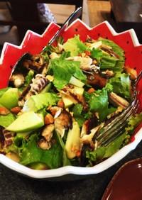 鯖の燻製サラダ