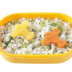 飛行機の青菜ご飯