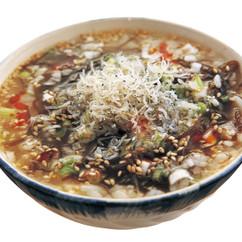 海藻スープのねぎじゃこ茶漬け