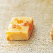 ホワイトチョコとオレンジピールのキャラメル