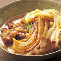 焼き白菜と豚肉のクッタリ煮
