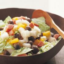 白菜の軸のサラダ