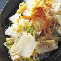白菜と帆立ての蒸し物 バターじょうゆ風味