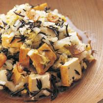 白菜と厚揚げのガーリックサラダ