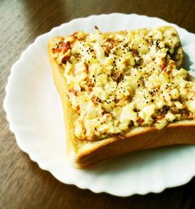 鰹節で簡単☆節約ツナマヨ風トースト