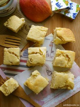 ココナッツオイルおからと林檎☆のケーキ♪