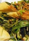 簡単1品♪水菜とチクワのピリ辛炒め